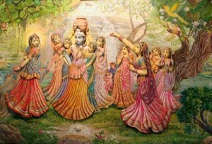 Lord Krishna And The Gopies