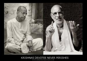 Srila Prabhupada on the  left