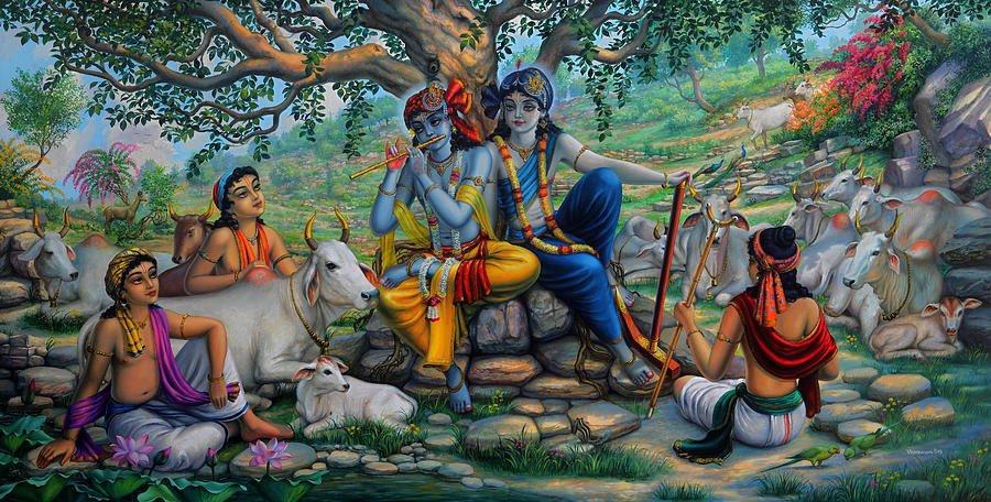 Krishna God Performs Wonderful Pastimes