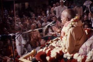 Srila Bhaktivedanta Swami Prabhupada speaking