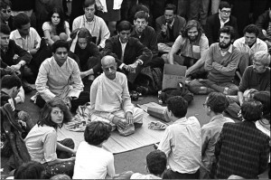 This is Srila Prabhupada our spiritual master, talking about spiritual consciousness and spiritual life. We also meet like this and learn about this philosophy from the Vedas.