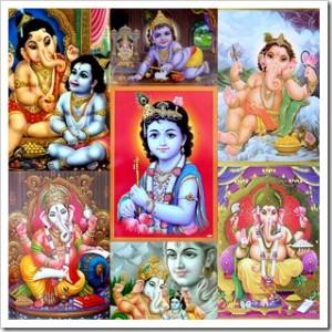 Kālī, Durgā, Śiva, Ganeśa,  non are God. Krishna is in the centre