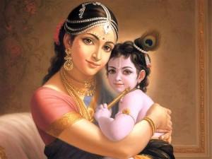 Mother Yasoda and Krishna
