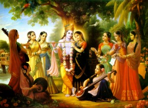 Radha Krishna and the Gopis