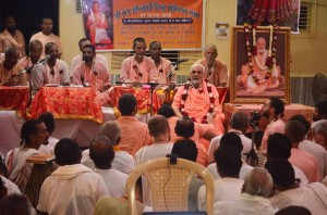 Srila Bharati Maharaja A pure devotee of Krishna speaking at the Rupa Gosvami Conference at Sri Rupa-Sanatana Gaudiya Matha.