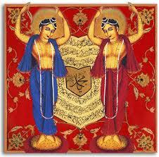 Mahaprabhu Lord Caitanya (right) and Lord Nityananda