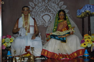 Srimati Saci Devi and Jagannatha Misra The parents of Lord Caitanya