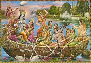 Radha Krishna and the Gopies
